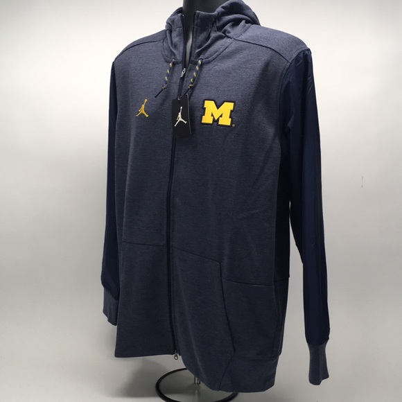 Michigan Jordan Gear >> Jordan Men S Michigan Wolverines Zip Hoodie Sz L Nwt
